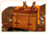 Iron Weave Pack Panniers with Leather Trim.  Set o
