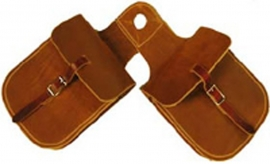 Chap Leather Horn Bag