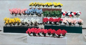 Set of Two Flower Boxes w/ Flowers each box 5+ fee