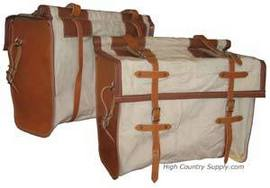 Leather and Canvas Pannier - Pack Panniers